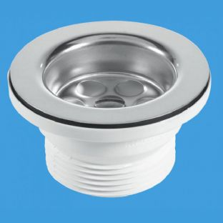 McAlpine BSW9P Centre Pin Bath Wastes - Stainless Steel Flange